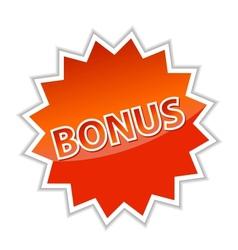 Web button bonus vector image