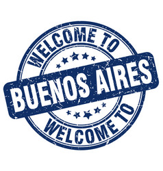 Welcome to buenos aires blue round vintage stamp vector