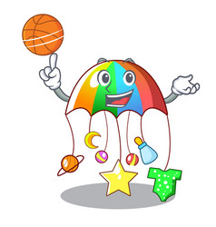 with basketball character hanging toy attached to vector image