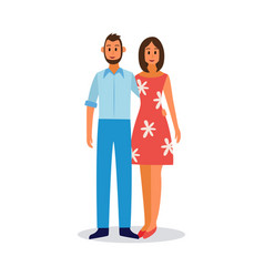 young couple in love or just married flat vector image
