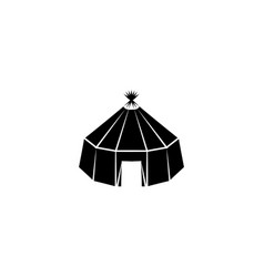 Yurt icon black on white background vector