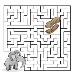 education maze or labyrinth game for children with vector image