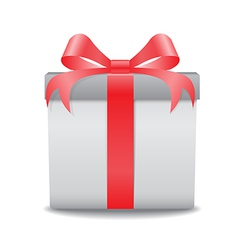 gift box red vector image