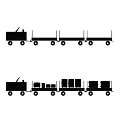 luggage carts in black color vector image vector image