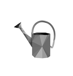 origami steel watering can vector image vector image