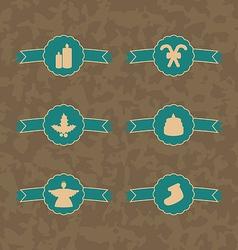 Set Christmas decoration vintage emblems vector image vector image