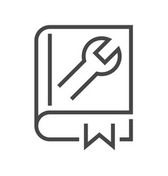 User guide book vector