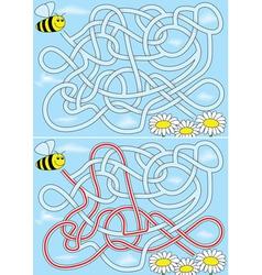 Bee maze vector image