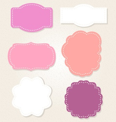 Cute Vintage labels set in pastel colors vector image vector image