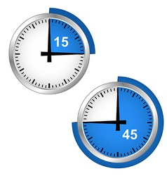 Seconds timer vector image vector image