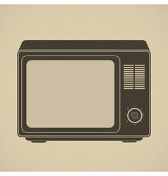 Silhouette of retro tv set vector image
