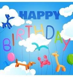 Birthday postcard template vector image