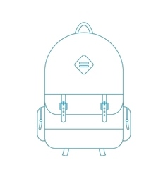 Blue outline backpack vector