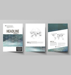 business templates for brochure flyer booklet or vector image vector image