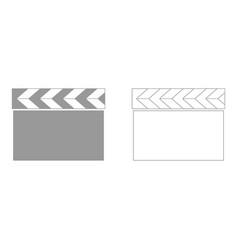 Cinema clapper set icon vector