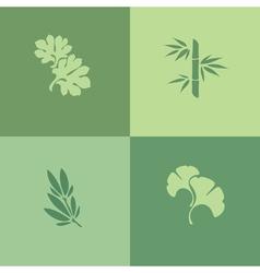 Leaf - Set of design elements vector image vector image