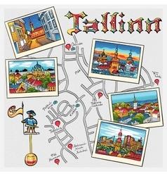 Medieval old town tallinn estonia vector