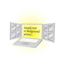 Open laptop vector image vector image