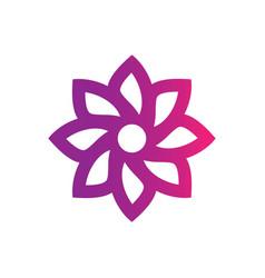 abstract circle leaf logo image vector image vector image