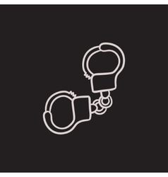 Handcuffs sketch icon vector image vector image