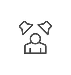 sound surrounding line icon vector image vector image