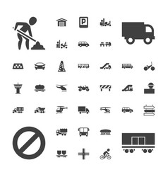 37 traffic icons vector