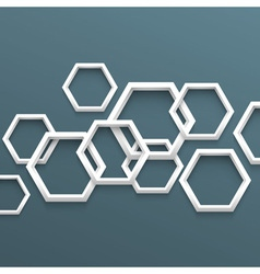 3d geometric background vector image