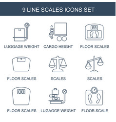 9 scales icons vector