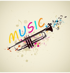 Abstract background with trumpet vector