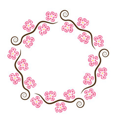 abstract decoration pattern cherry branches vector image