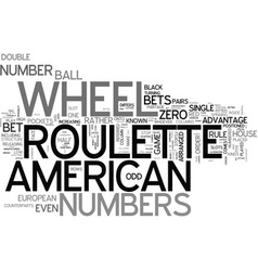 American roulette systems game strategies and vector