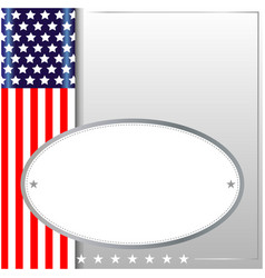 american symbolism background frame vector image