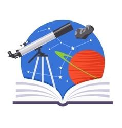 Astronomy emblem vector