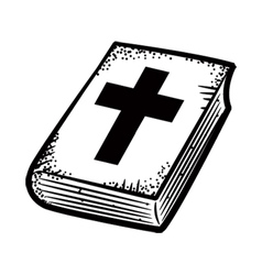 bible doodle vector image