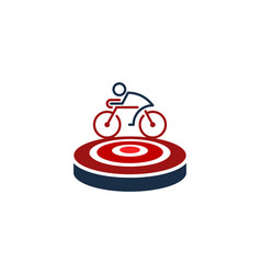bike target logo icon design vector image