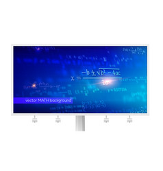 billboard with mathematical formulas in vector image