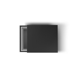 black empty box mock up on white background top vector image