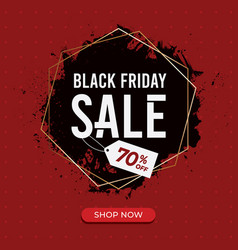 black friday sale background template vector image