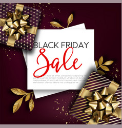 black friday sale promo banner for shops vector image