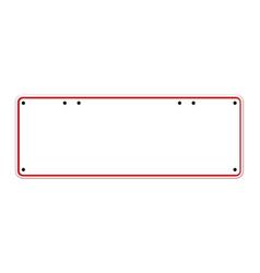 blank australian registration plate vector image