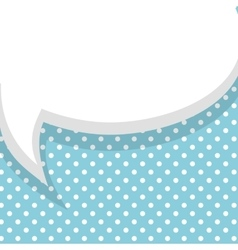 Blank blue balloon template vector