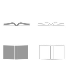 Book set icon vector