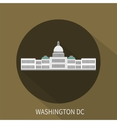 Capitol building in Washington DC icon vector image