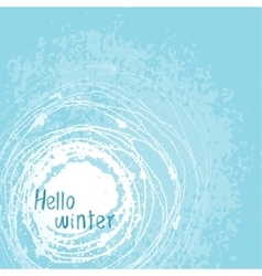 card Hello winter vector image