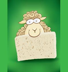 Cartoon cheep with cheese vector