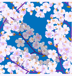 Cherry blossom seamless pattern textile or fabric vector