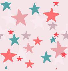 christmas stars cream typography seamless pattern vector image