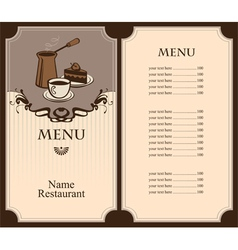 coffee and dessert vector image
