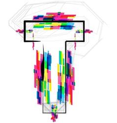 Colorful Font Letter T vector image