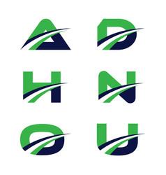 colorful letter design vector image